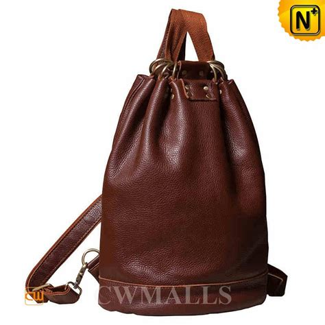 S Leather Backpack Brown s brown leathe travel backpack cw252083