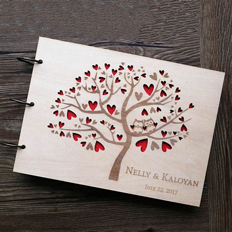 Wedding Guestbook 6 aliexpress buy owl wedding guest book rustic guest