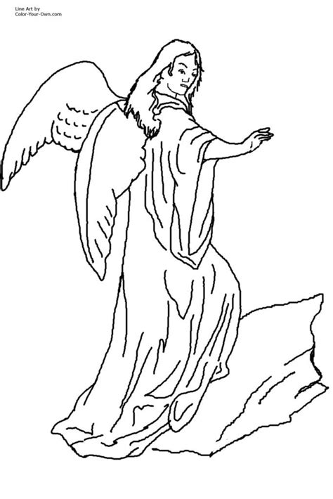 coloring pages of guardian angels male guardian angel coloring page coloring home