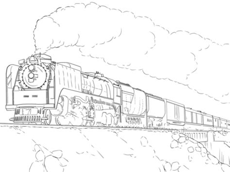 long train coloring page union pacific train coloring page free printable