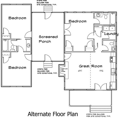 dogtrot floor plans plan 92318mx 3 bedroom dog trot house plan dog trot