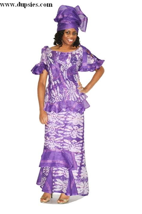 senegalese african dresses for women purple tie dye and voile senegalese wrapper set for women