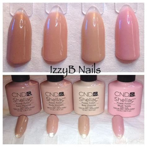 popular shellac nail colors cnd shellac intimites collection beautiful nude colors