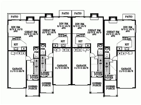 20 stunning quadplex plans home building plans 12017