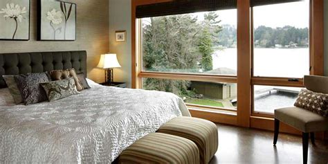 lake bedroom decorating ideas waterfront lake house with agrarian and contemporary