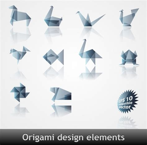 origami pattern vector vector origami pattern effect free vector in encapsulated