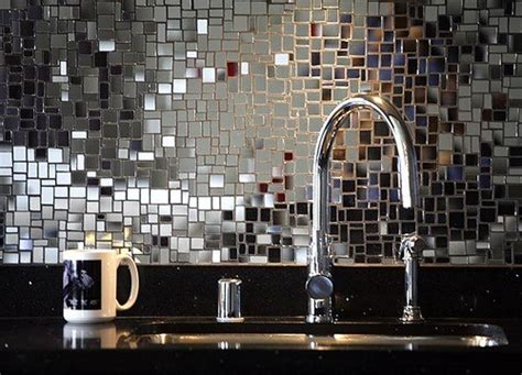 mirror tile backsplash kitchen tiles on tile glass tiles and tile design
