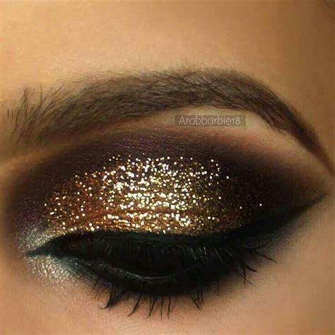 Eyeshadow Brown gold glitter eyeshadow makeup