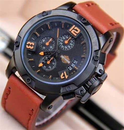 Jam Tangan Gc Brown List Orange jam tangan harley davidson chrono tali kulit