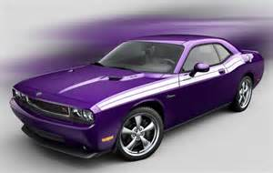 dodge challenger goes plum purple for 2010