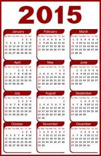 25 printable 2015 calendars