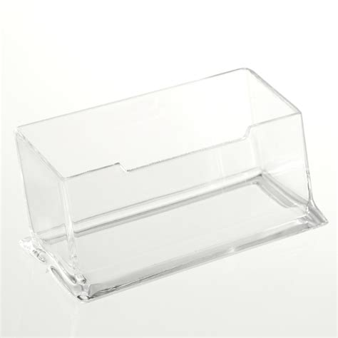 clear plastic desk clear desktop business card holder display stand acrylic