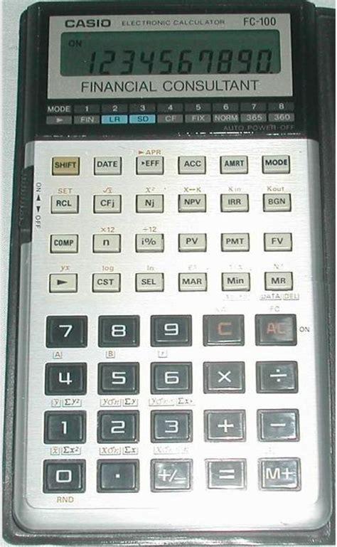 Kalkulator Casio Seri Financial casio fc 100 ordinateurs de poche calculatrices casio