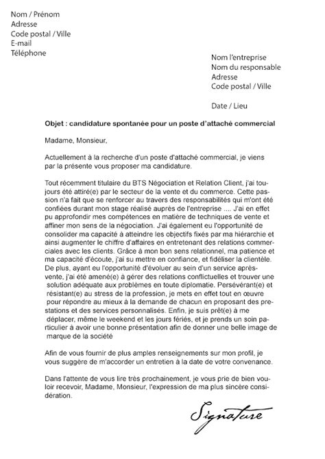 Exemple De Lettre De Motivation Commercial Lettre De Motivation Attach 233 Commercial D 233 Butant Mod 232 Le De Lettre
