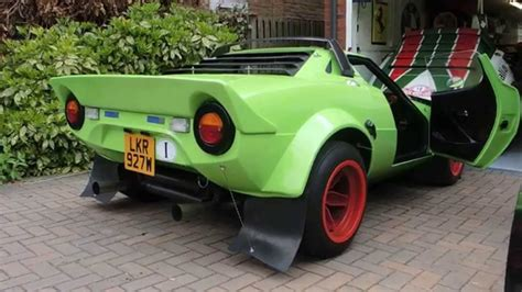 stratos replica hawk lime green lancia stratos replica on the move