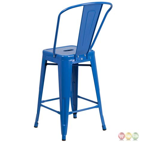 24 high counter stools 24 high blue metal indoor outdoor counter height stool