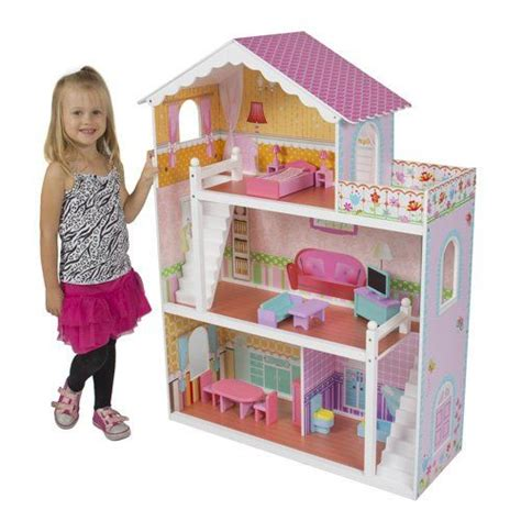dolls houses for children best choice products 174 children s wooden dollhouse big wood