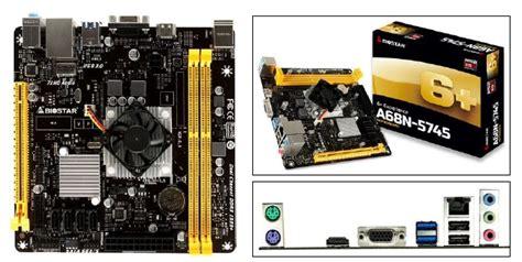 Biostar A68n 5745 Built In Amd A10 5745 biostar amd a10 5745クアッドコアapu搭載 mini itxマザーボード a68n 5745