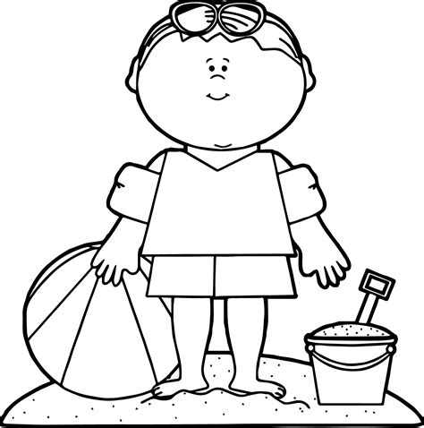 Summer Boy Beach Coloring Page Wecoloringpage Boy Coloring Pages To Print Printable