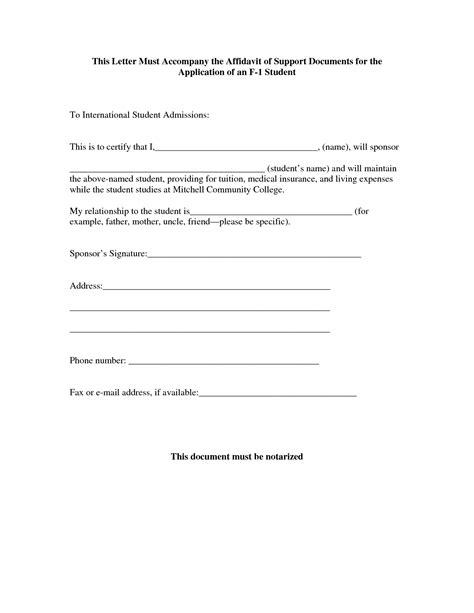 Sle Affidavit Letter Of Support By Zrg87525 Affidavit Of Support Sle Legal Documents Affidavit Of Support Template Letter