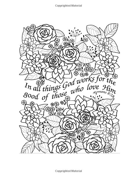 scripture coloring pages and scripture floral designs