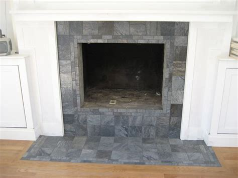 Remove Fireplace Hearth by Exle Of Refaced Fireplace With Raised Hearth Removed