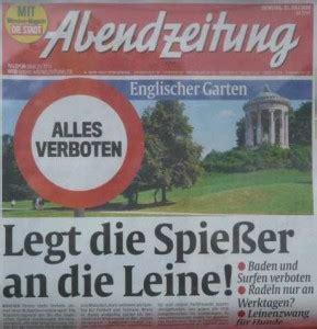 Englischer Garten München Hunde Erlaubt by Die Spie 223 Er Sind Immer Die Anderen Blariog Net