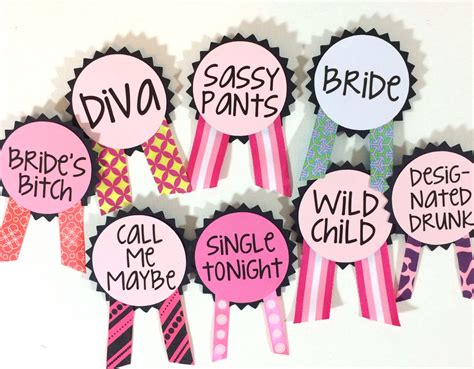 theme names for bachelorette party custom bachelorette party pins name tags bachelorette sash