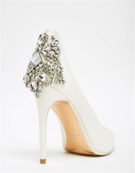 shoes with heels ted baker mieon tie the knot bridal embellished heel