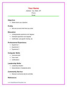 Exle Of Resumes For High School Students by Doc 745959 High School Resume Template No Work Experience Bizdoska
