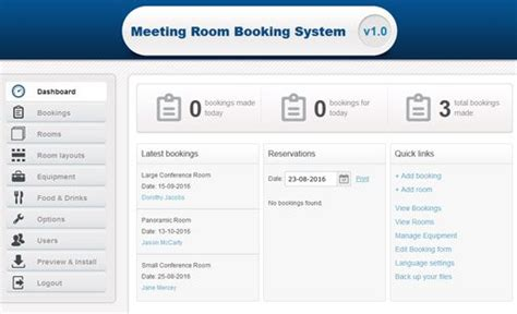 free room booking system meeting room booking system room scheduling software phpjabbers