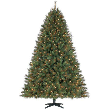 ge white fiberoptic tree w multi colored lights time pre lit 7 5 prescott pine artificial tree clear lights