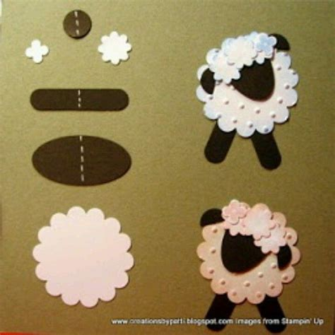 Papercraft Sheep - sheep craft to turn into foam craft animal sheep