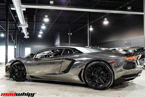 chrome lamborghini black chrome lambo aventador madwhips
