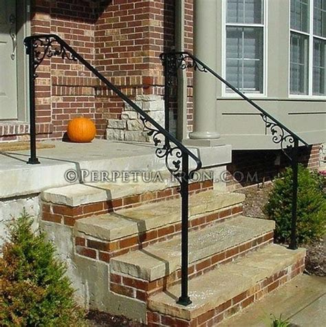 step railings wrought iron railing for front steps cast