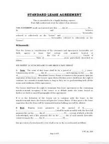 printable lease agreement template free rental agreements to print free standard lease