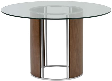 Dining Table Tempered Glass Delano Clear Tempered Glass Top Dining Table From Armen Living Coleman Furniture