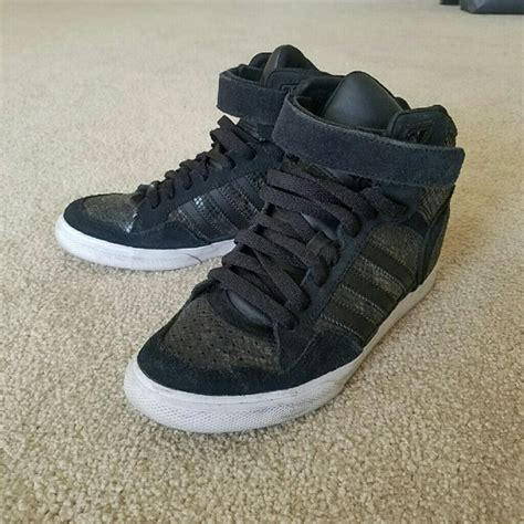 adidas high top wedge sneakers 65 adidas shoes adidas wedge high top sneakers from