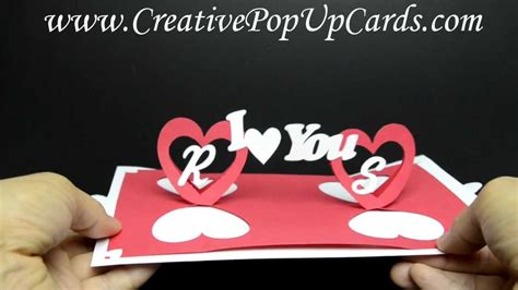 twisting hearts pop up card template valentines day pop up card twisting hearts