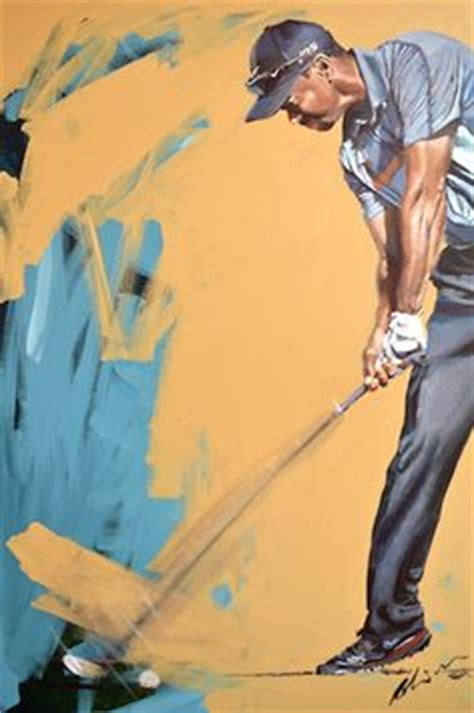 tiger woods swing portrait tiger woods paintings on pinterest golf art dubai and