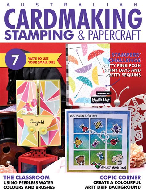 Cardmaking And Papercraft Back Issues - cardmaking sting papercraft vovume 23 issue 5 2017