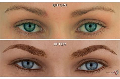 tattooed eyeliner before after photos of microart semi permanent makeup