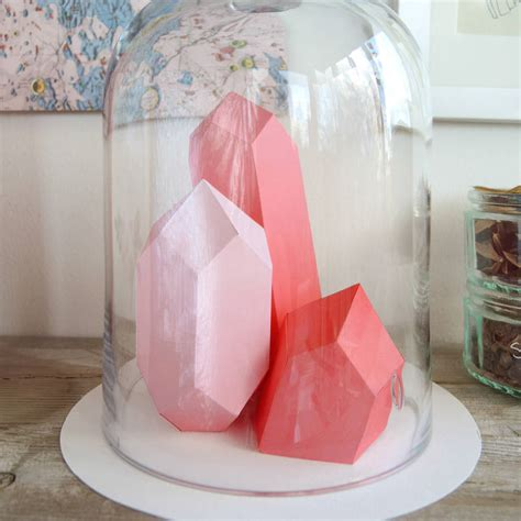 origami template gem rock by bonnie and bell