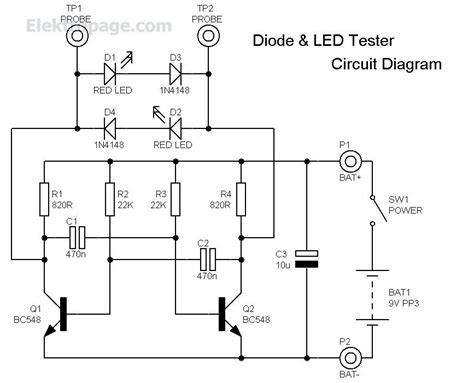 diode wiring schematic diode led tester diode led tester circuit schematic schematic circuits elektropage