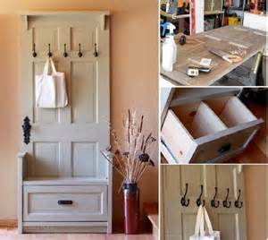 How To Make A Braided T Shirt Rug Diy Craft Project Entry Bench Using Old Door S Find Fun
