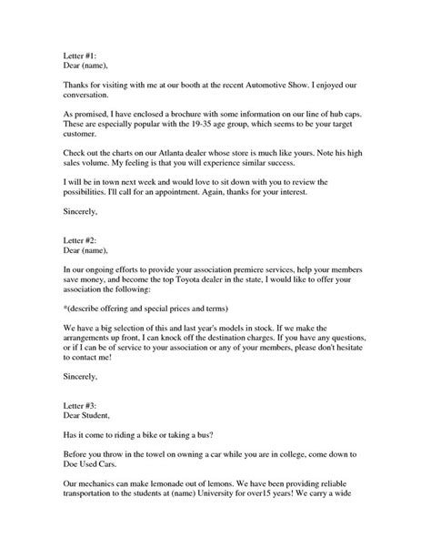 Letter For Vehicle 10 Best Images About Sales Letters On Template A Business And The Product