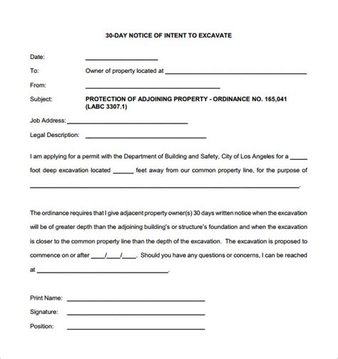 30 days notice letter 8 sle 30 day notice letters sle templates