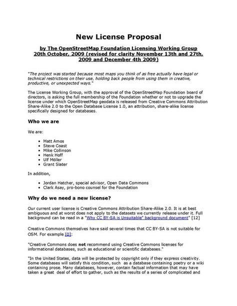 proposal format wikipedia file license proposal pdf openstreetmap foundation