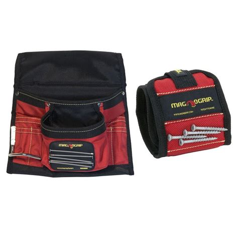 magnogrip magnetic tool pouch and magnetic wristband set