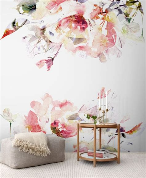 removable wallpaper floral spring floral removable wallpaper wall mural